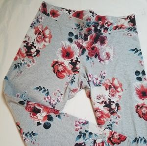 American Eagle Outfitters Floral Leggings sz L